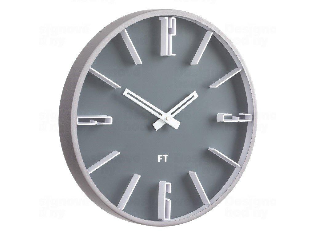 Designové nástěnné hodiny Future Time FT6010GY Numbers 30cm