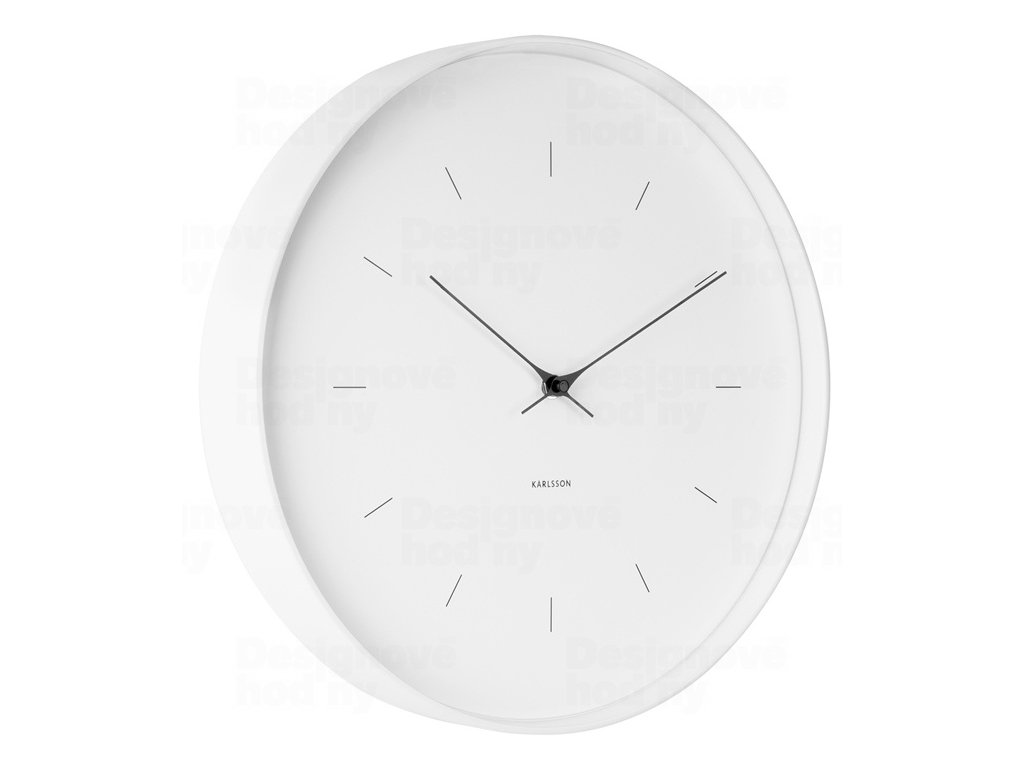 Designové nástěnné hodiny 5708WH Karlsson 27cm