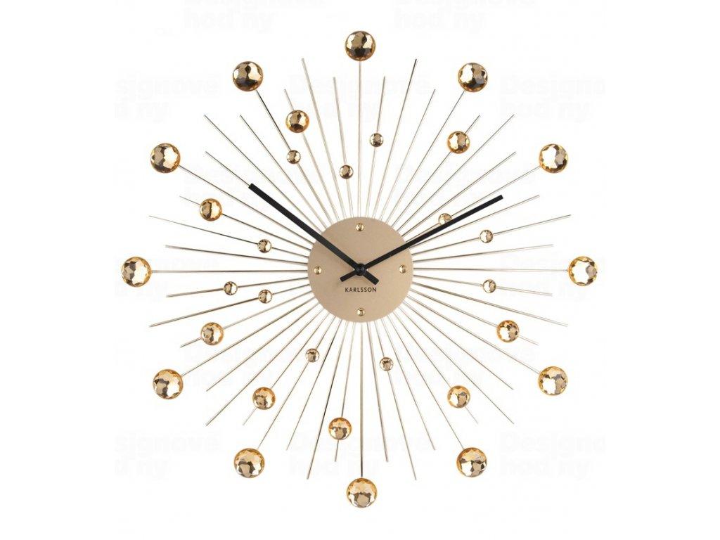 Designové nástěnné hodiny 4859GD Karlsson 50cm