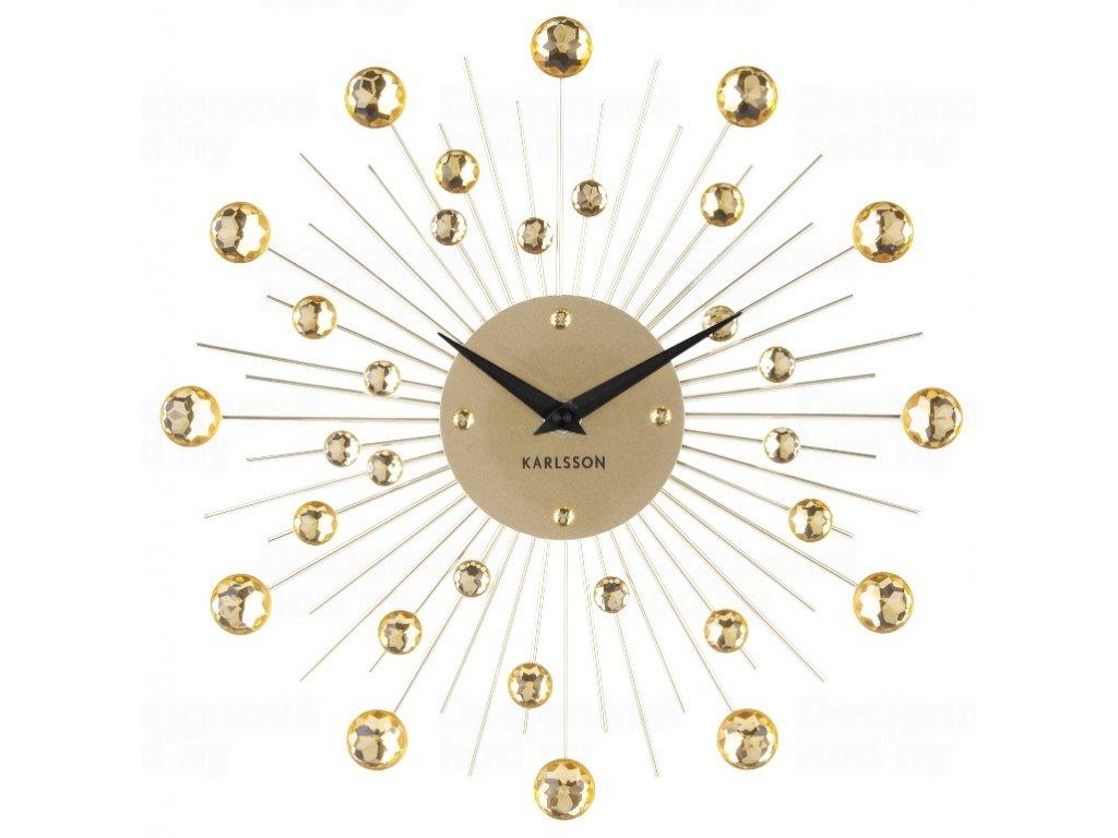 Designové nástěnné hodiny 4860GD Karlsson 30cm