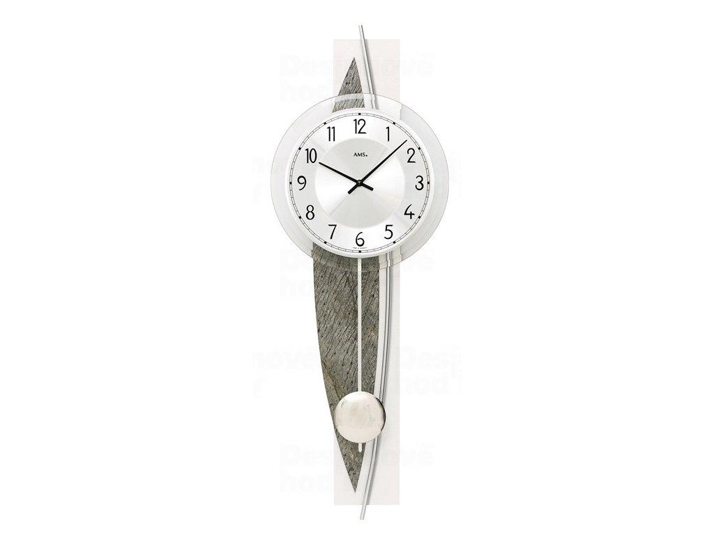 Designové nástěnné kyvadlové hodiny 7456 AMS 67cm