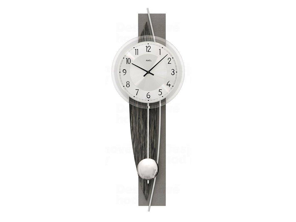 Designové nástěnné kyvadlové hodiny 7458 AMS 67cm
