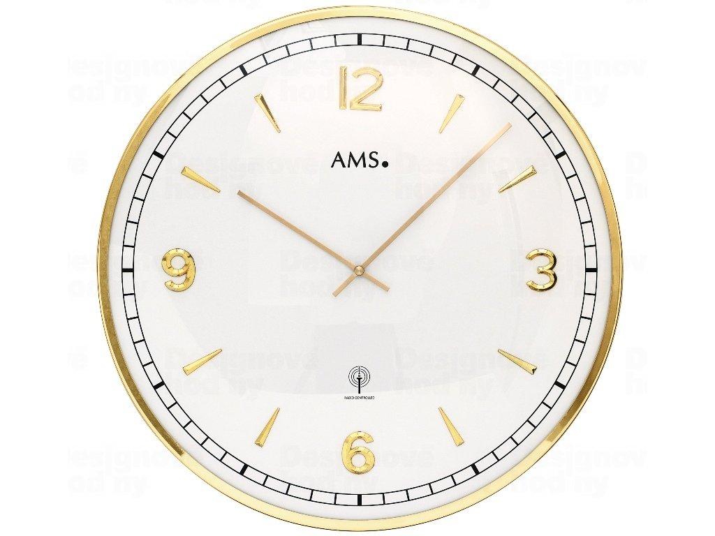 Nástěnné hodiny 5609 AMS řízené rádiovým signálem 40cm