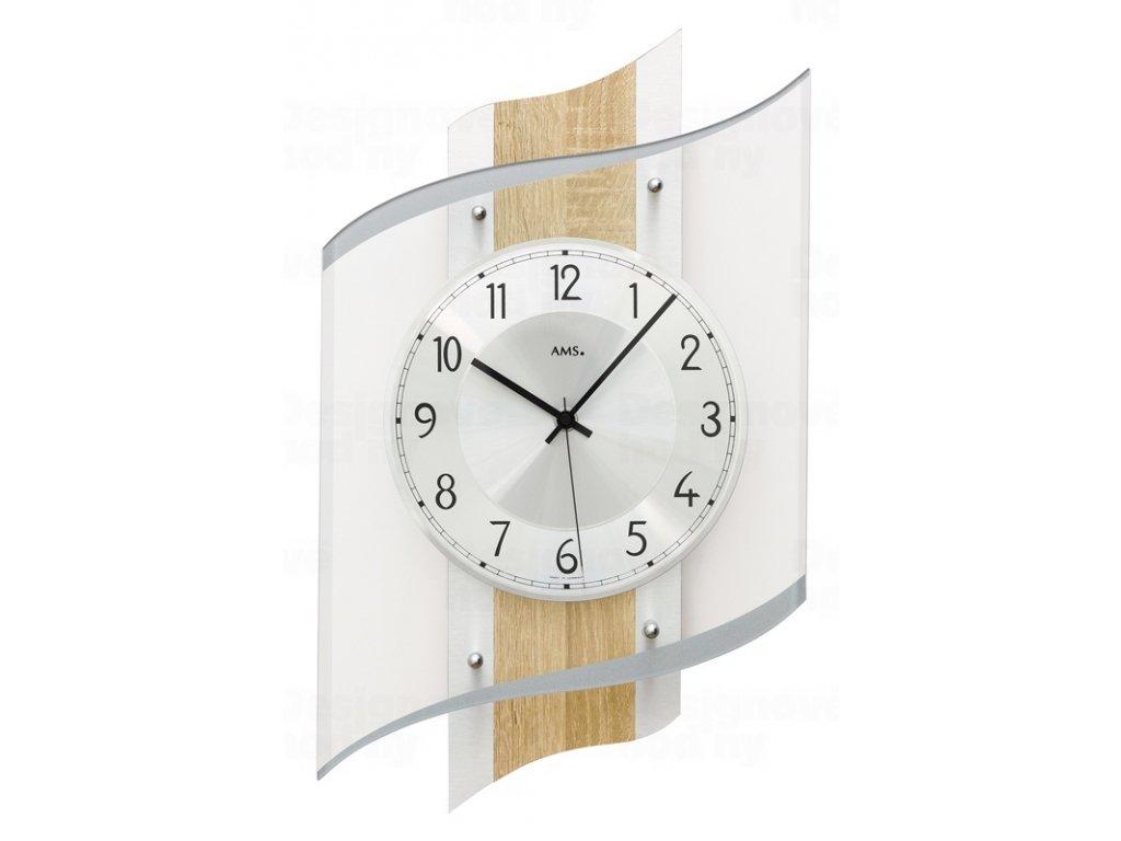 Designové nástěnné hodiny 5520 AMS řízené rádiovým signálem 48cm