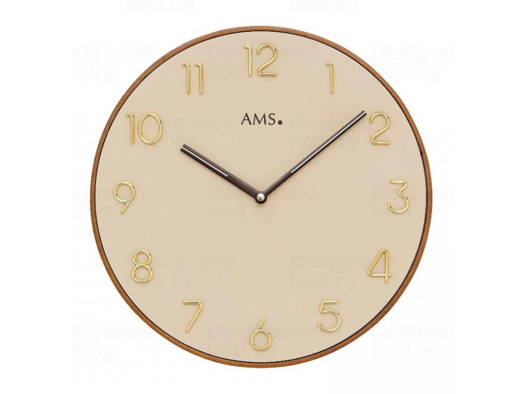Designové nástěnné hodiny 9563 AMS 30cm
