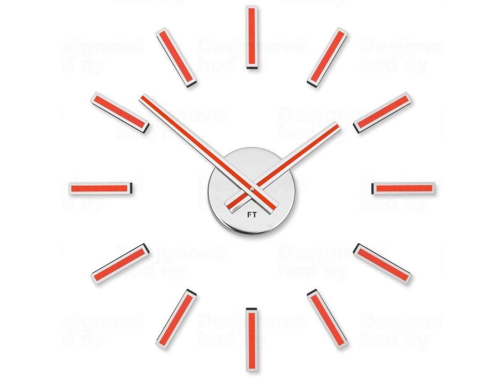 Designové nalepovací hodiny Future Time FT9400RD Modular red 40cm