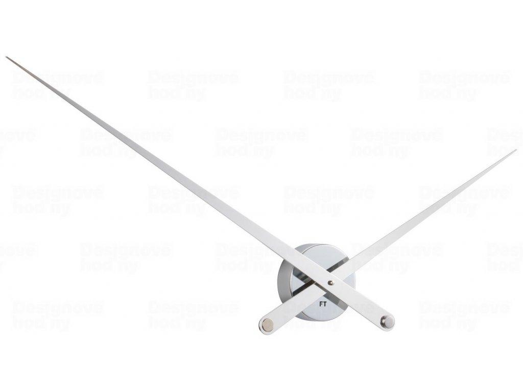Designové nástěnné hodiny Future Time FT9110WH Hands white 100cm