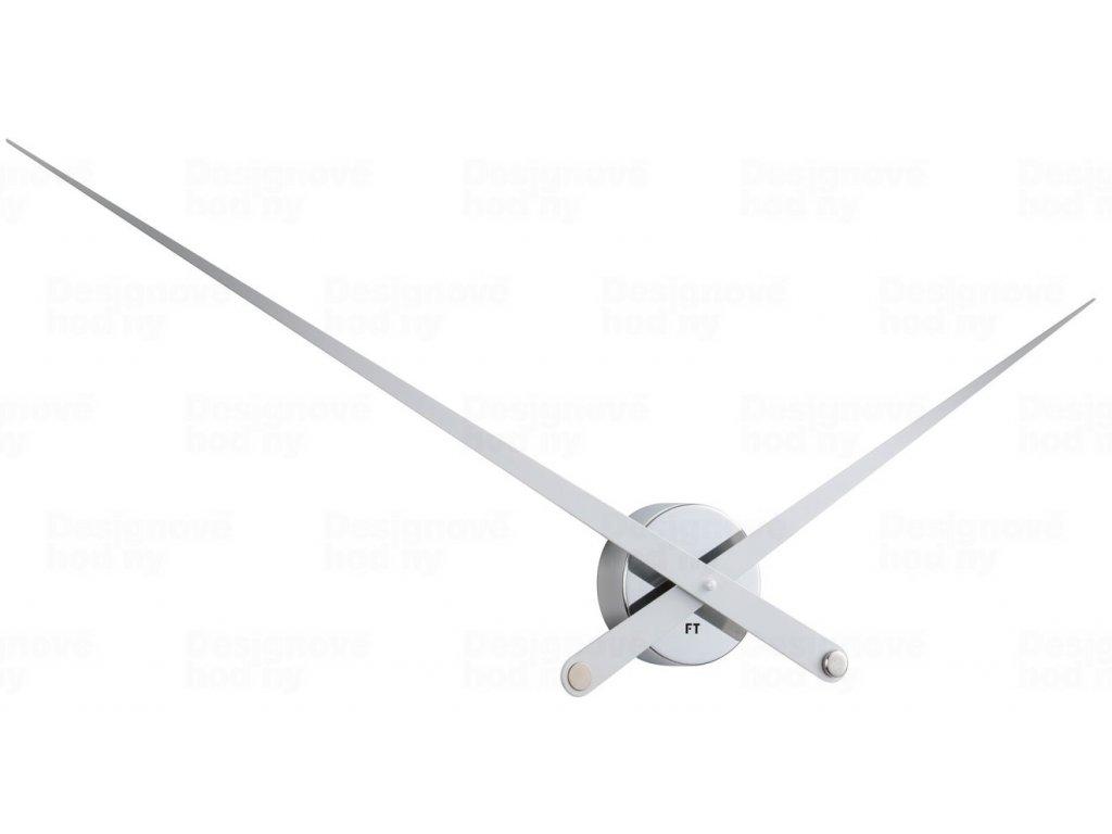 Designové nástěnné hodiny Future Time FT9110SI Hands chrome 100cm