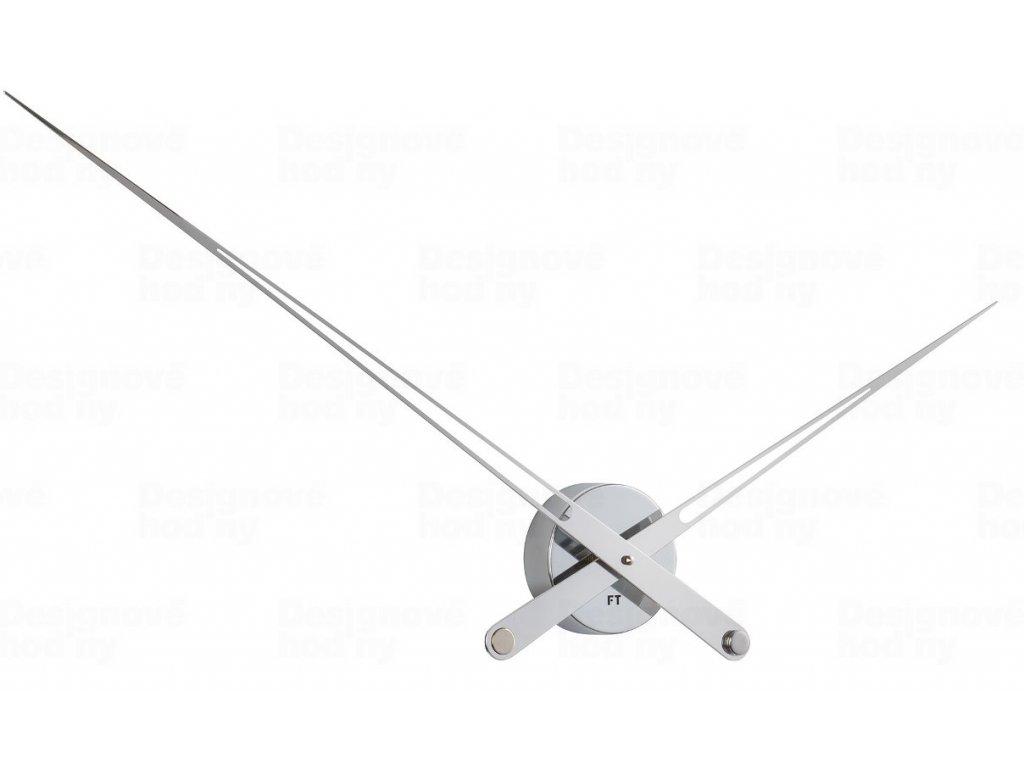 Designové nástěnné hodiny Future Time FT9130SI Hands chrome 100cm