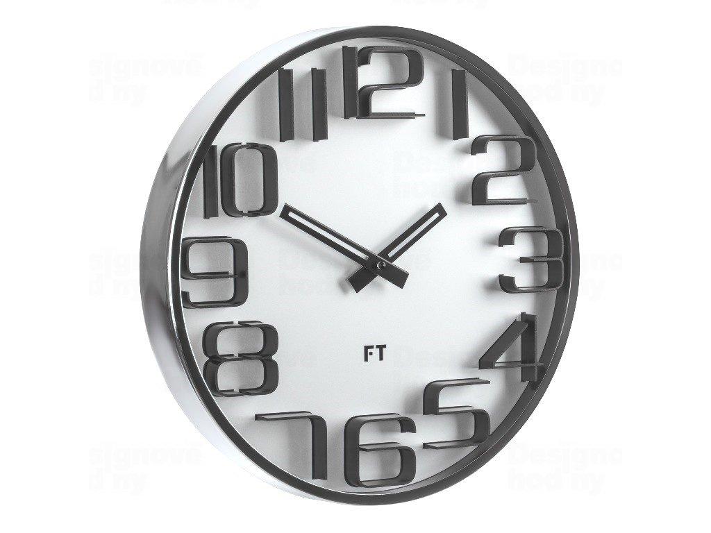 Designové nástěnné hodiny Future Time FT7010SI Numbers silver 30cm