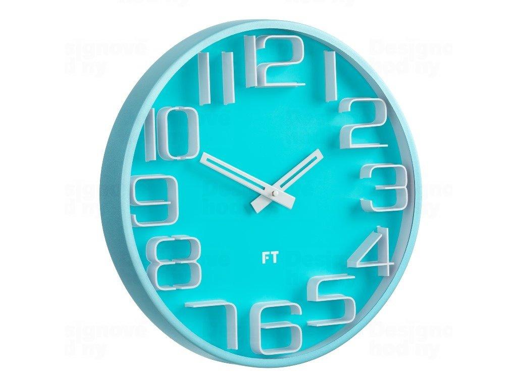 Designové nástěnné hodiny Future Time FT8010BL Numbers 30cm