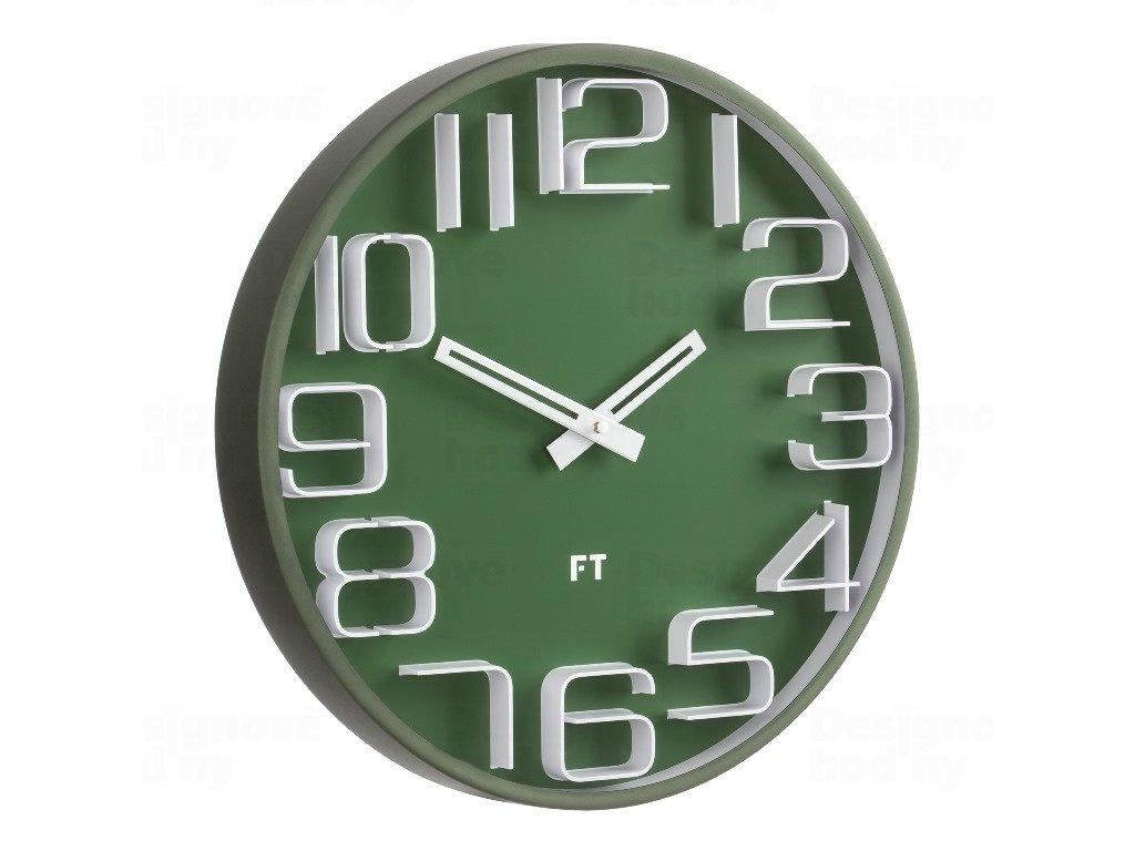 Designové nástěnné hodiny Future Time FT8010GR Numbers 30cm