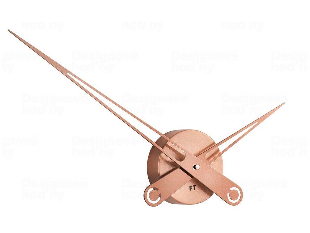 Designové nástěnné hodiny Future Time FT9650CO Hands copper 60cm