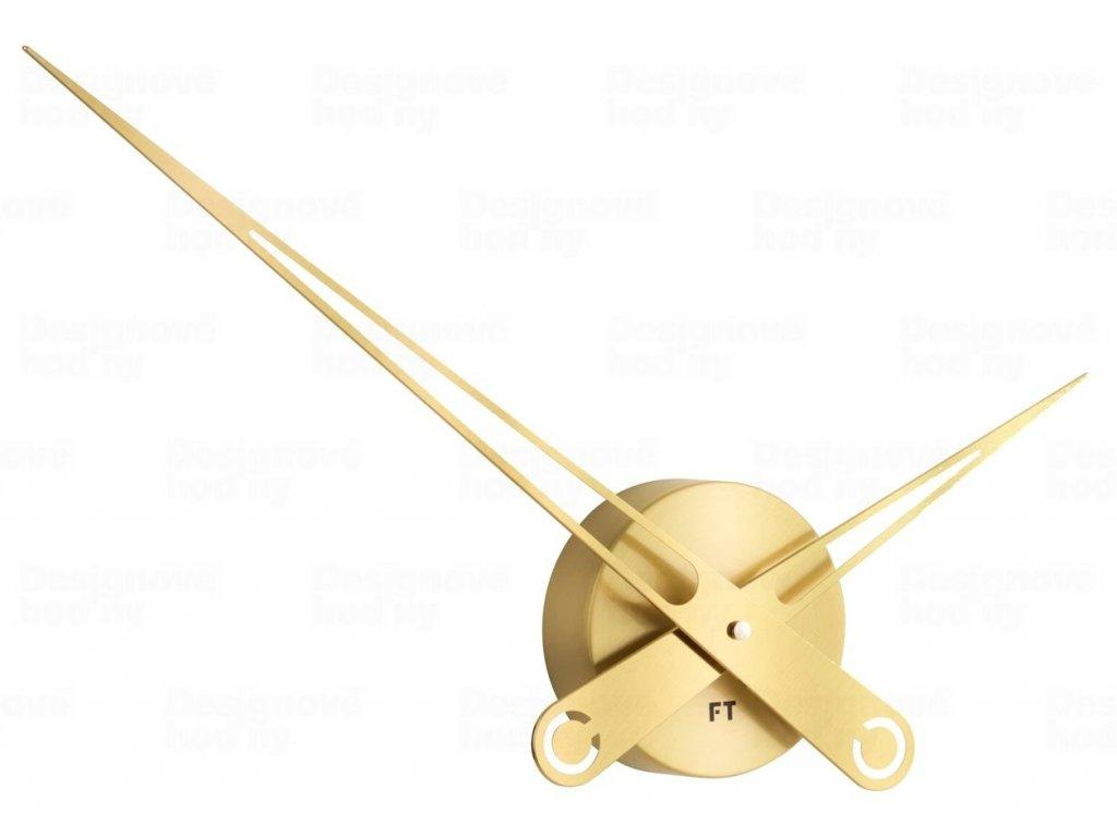 Designové nástěnné hodiny Future Time FT9650GD Hands gold 60cm