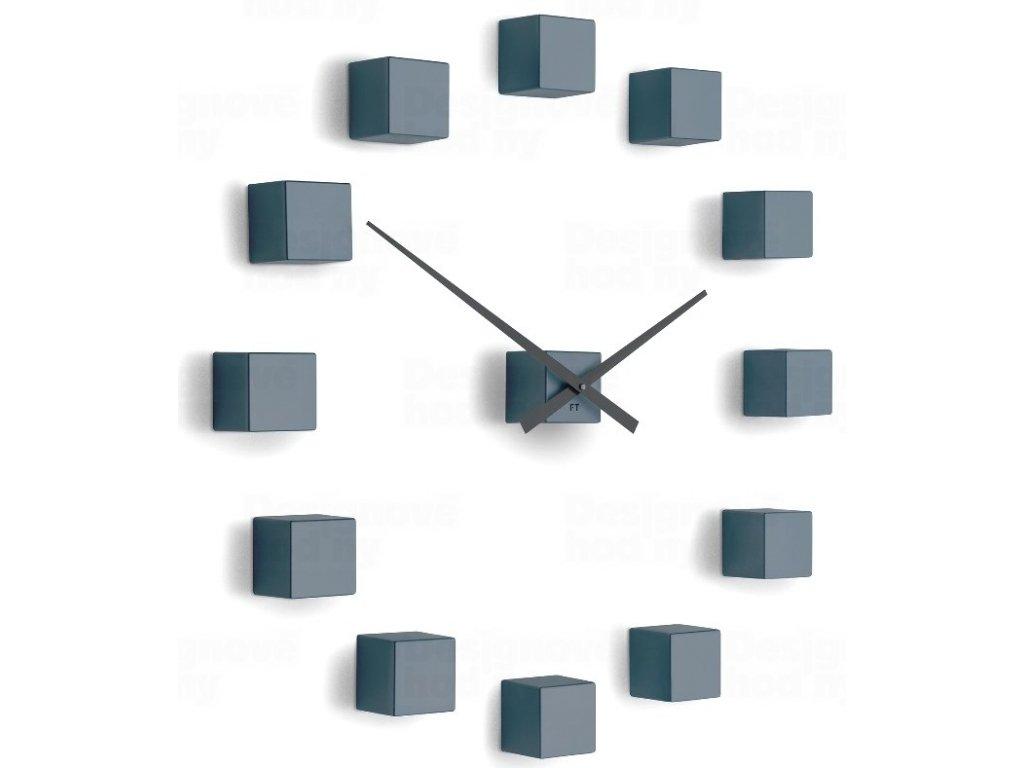 Designové nástěnné nalepovací hodiny Future Time FT3000GY Cubic light grey