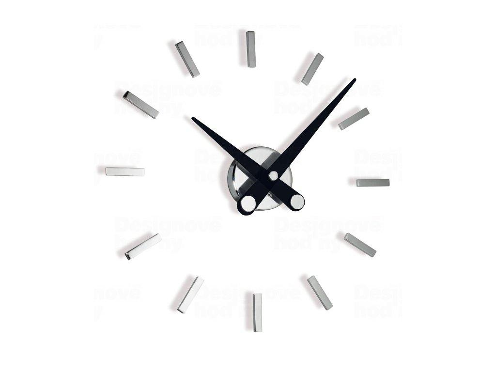 Designové nástěnné hodiny Nomon Puntos Suspensivos 12i black 50cm