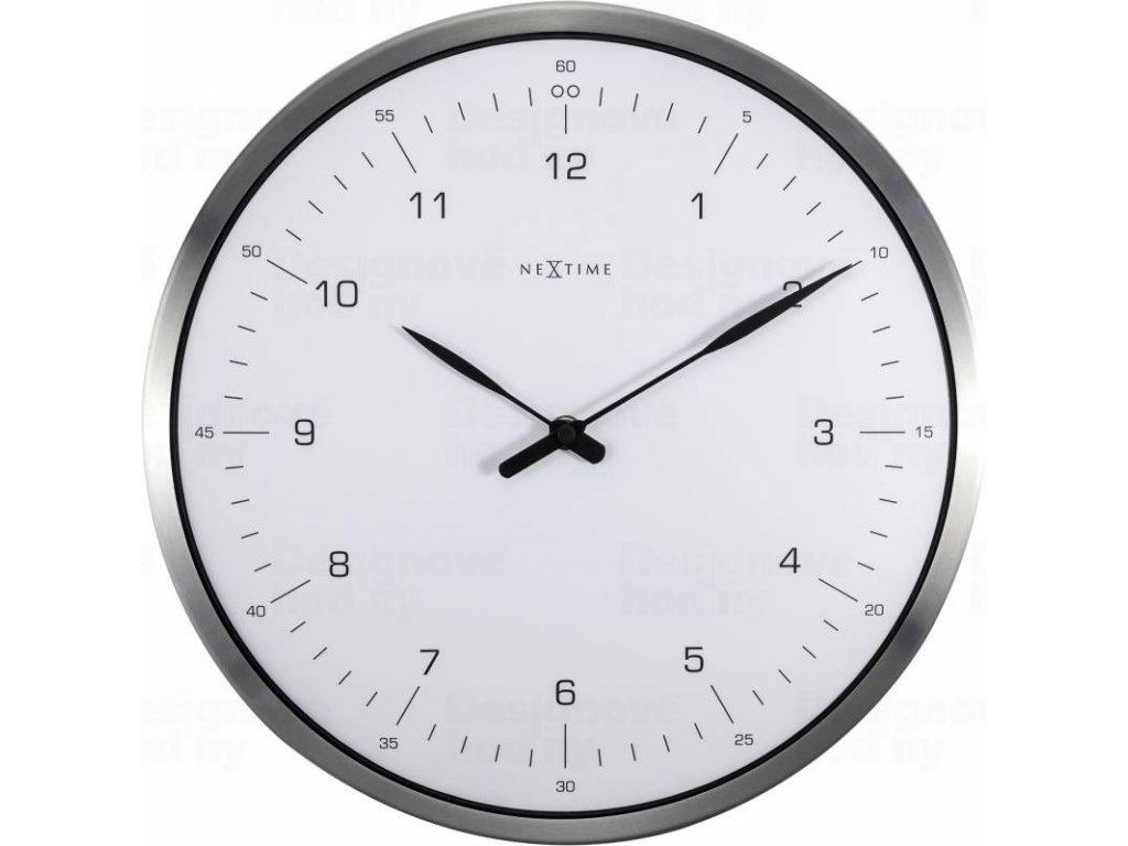 Designové nástěnné hodiny 3243wi Nextime 60 minutes 33cm