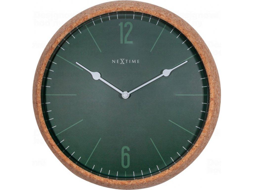Designové nástěnné hodiny 3509gn Nextime Cork 30cm