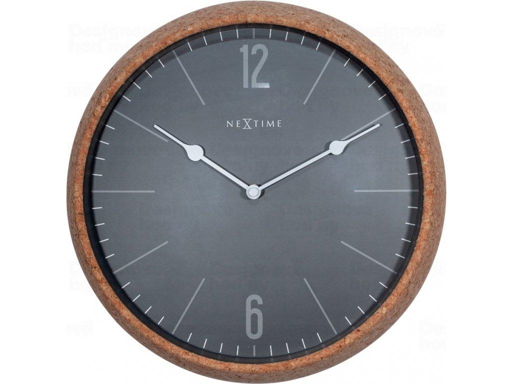 Designové nástěnné hodiny 3509gs Nextime Cork 30cm