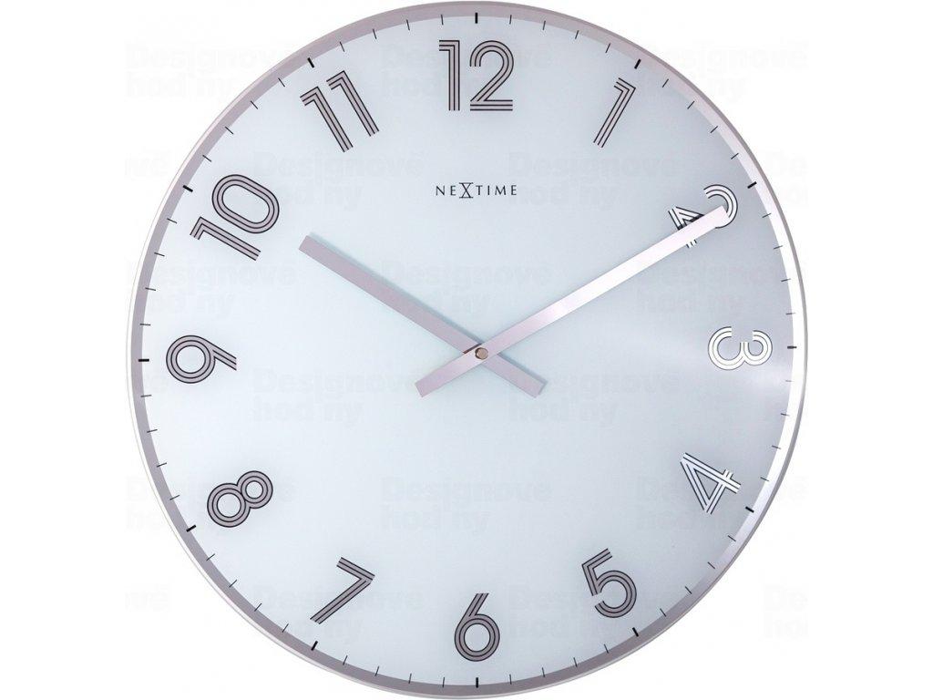 Designové nástěnné hodiny 8190wi Nextime Reflect 43cm