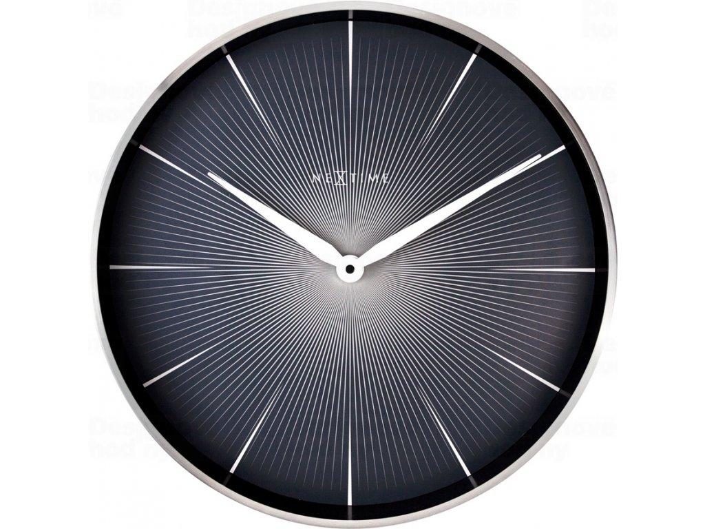 Designové nástěnné hodiny 3511zw Nextime 2 Seconds 40cm