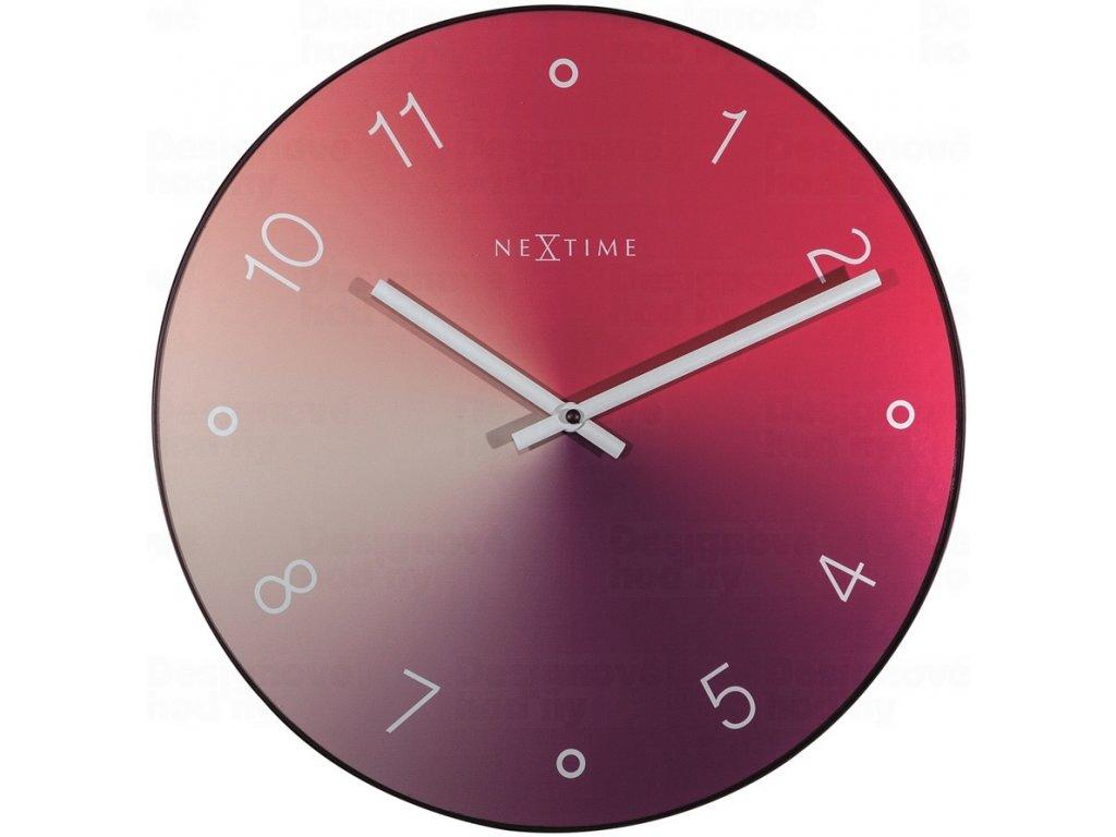 Designové nástěnné hodiny 8194ro Nextime Gradient 40cm
