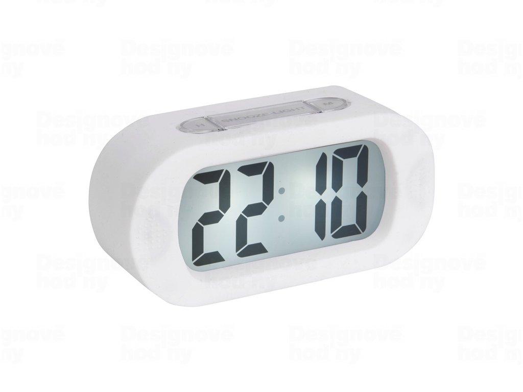 Stolní digitální hodiny-budík Karlsson KA5753WH