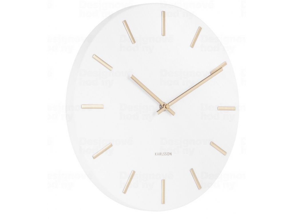 Designové nástěnné hodiny 5821WH Karlsson 30cm