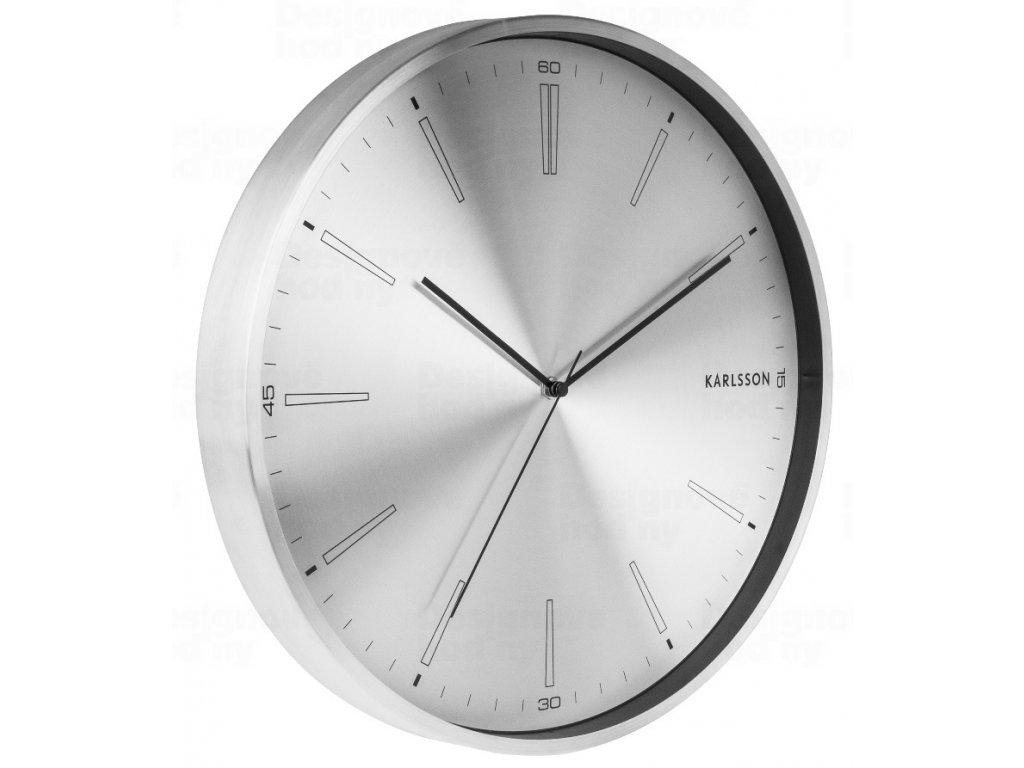 Designové nástěnné hodiny 5811SI Karlsson 40cm