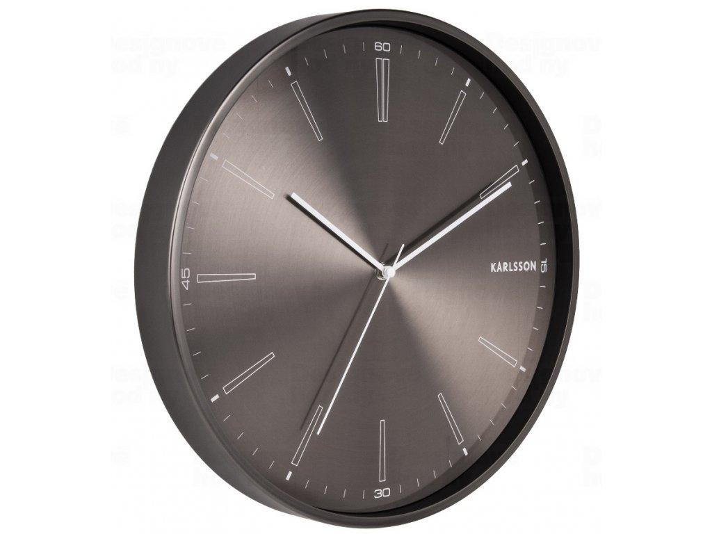 Designové nástěnné hodiny 5811GM Karlsson 40cm