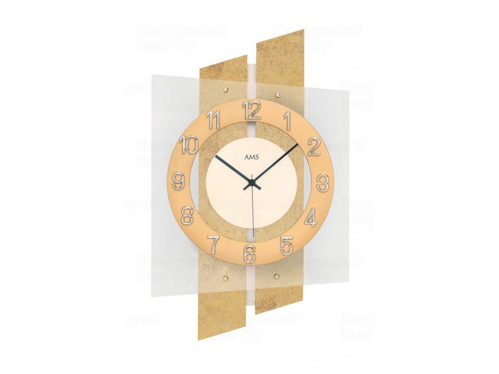 Designové nástěnné hodiny 5533 AMS řízené rádiovým signálem 46cm