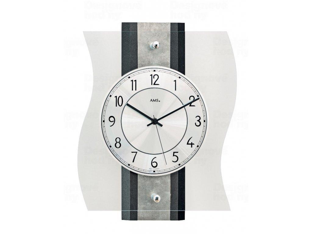 Designové nástěnné hodiny 5538 AMS řízené rádiovým signálem 36cm
