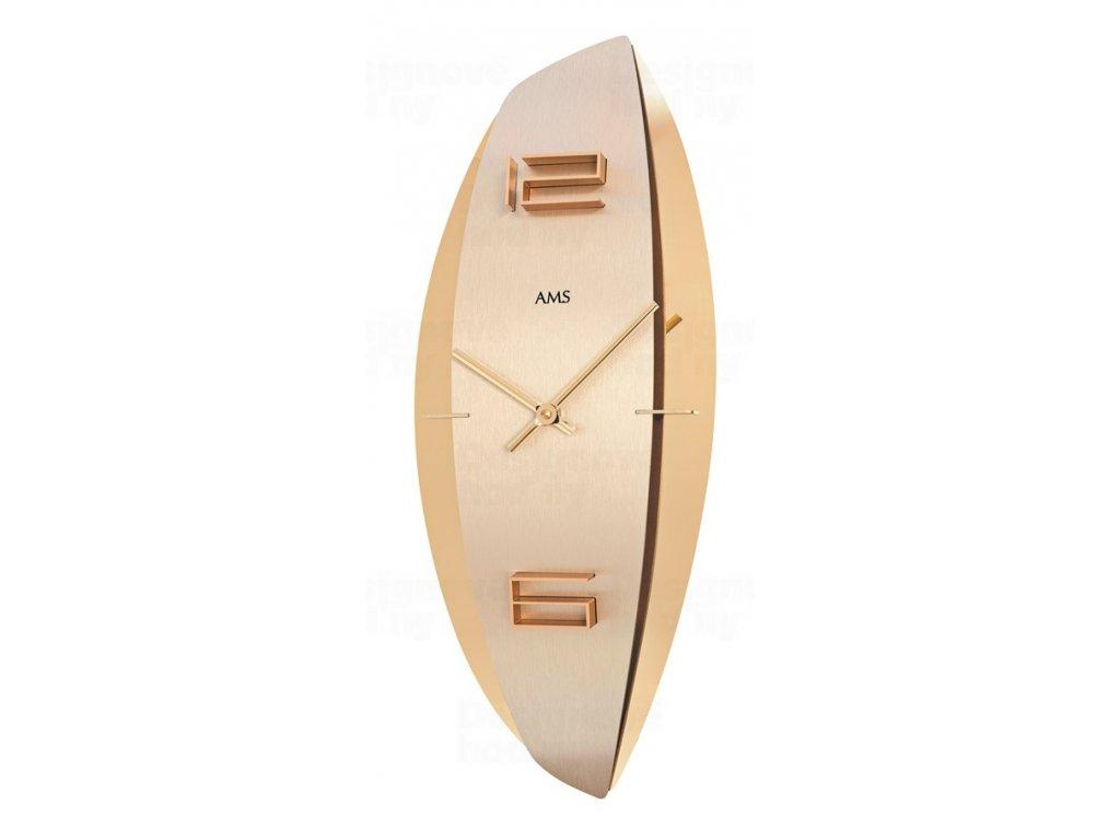 Designové nástěnné hodiny 9601 AMS 45cm