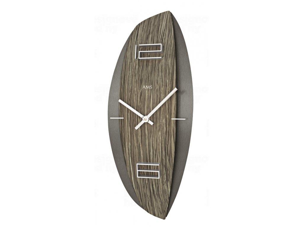 Designové nástěnné hodiny 9600 AMS 45cm