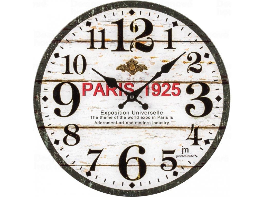 Designové nástěnné hodiny 14889 Lowell 34cm