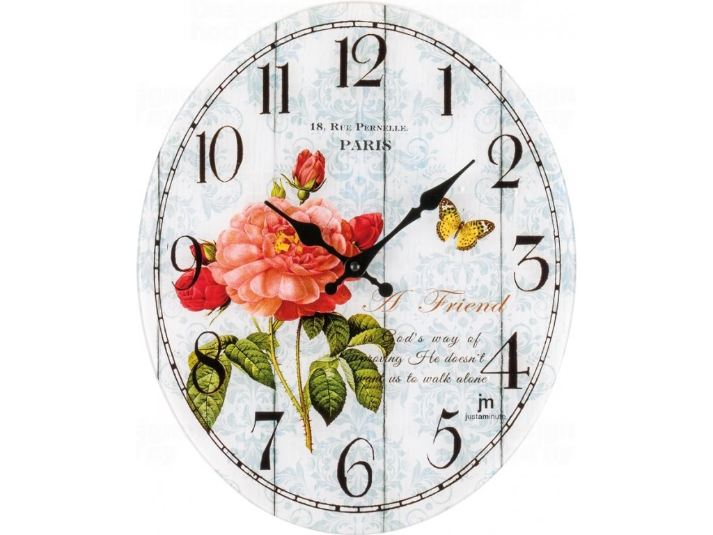 Designové nástěnné hodiny 14885 Lowell 39cm