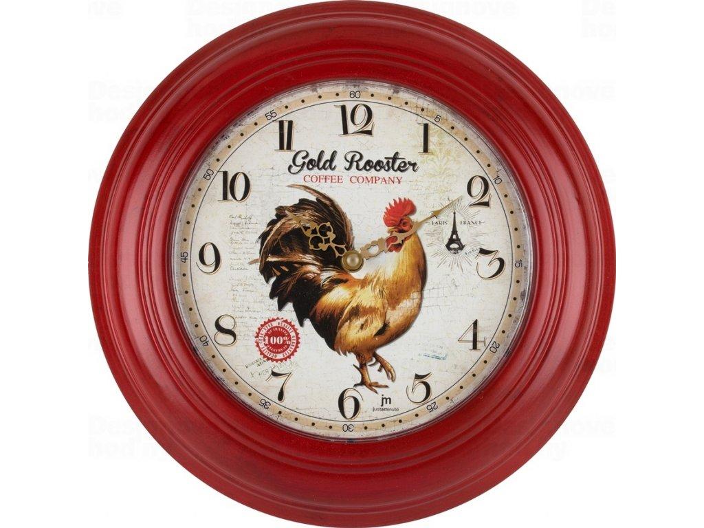 Designové nástěnné hodiny 21487 Lowell 31cm