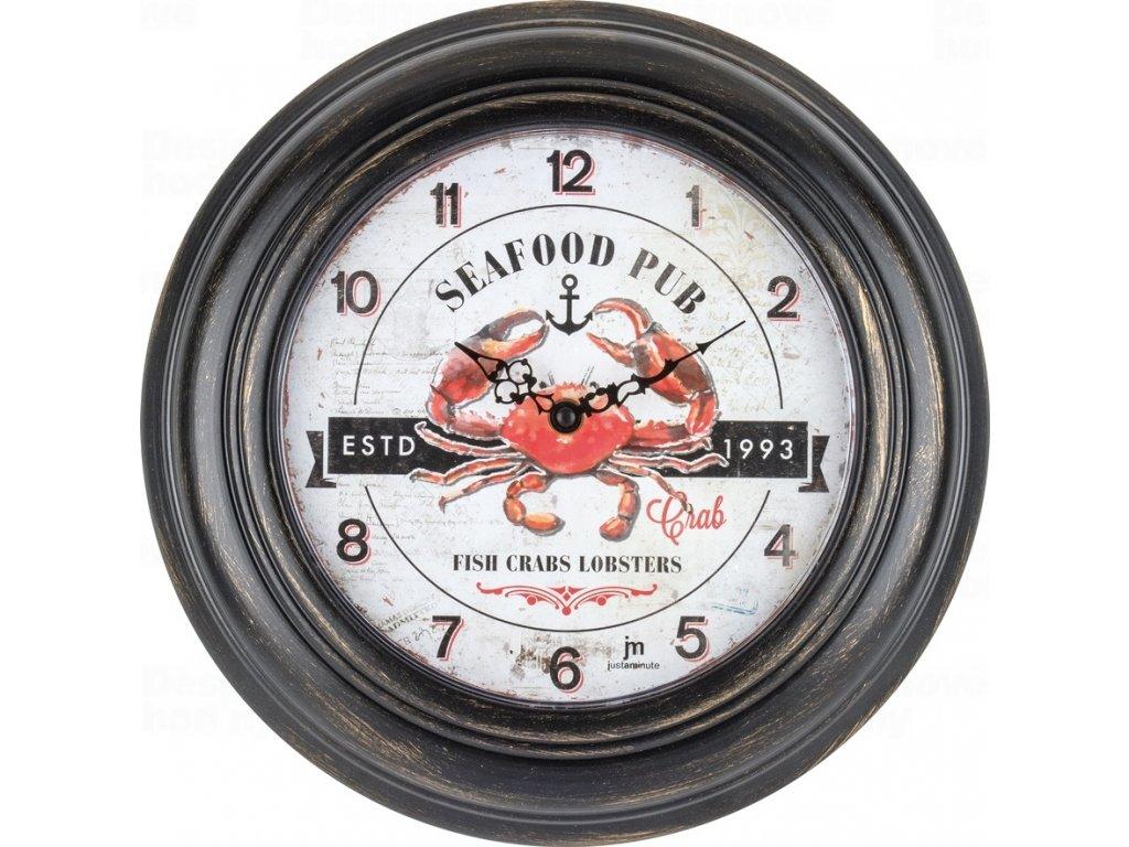 Designové nástěnné hodiny 21490 Lowell 31cm