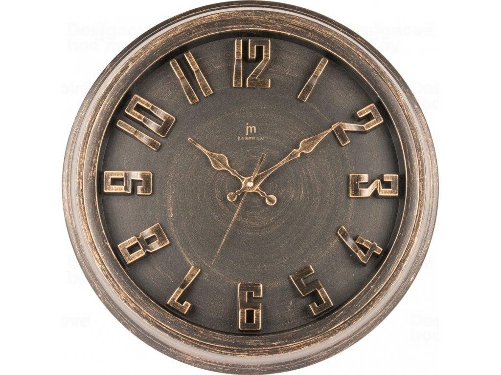 Designové nástěnné hodiny 00825R Lowell 40cm