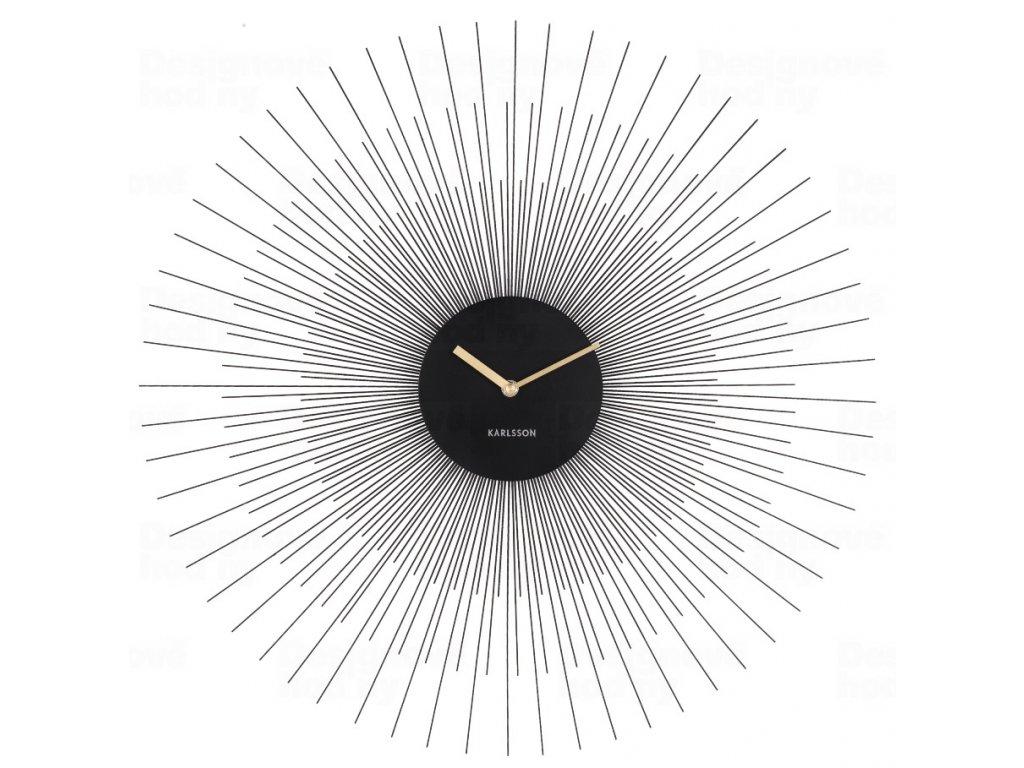 Designové nástěnné hodiny 5818BK Karlsson 60cm