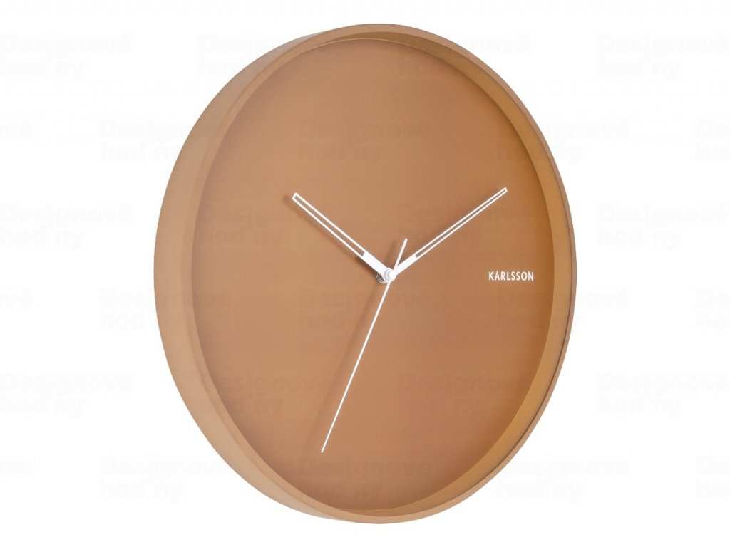 Designové nástěnné hodiny 5807BR Karlsson 40cm