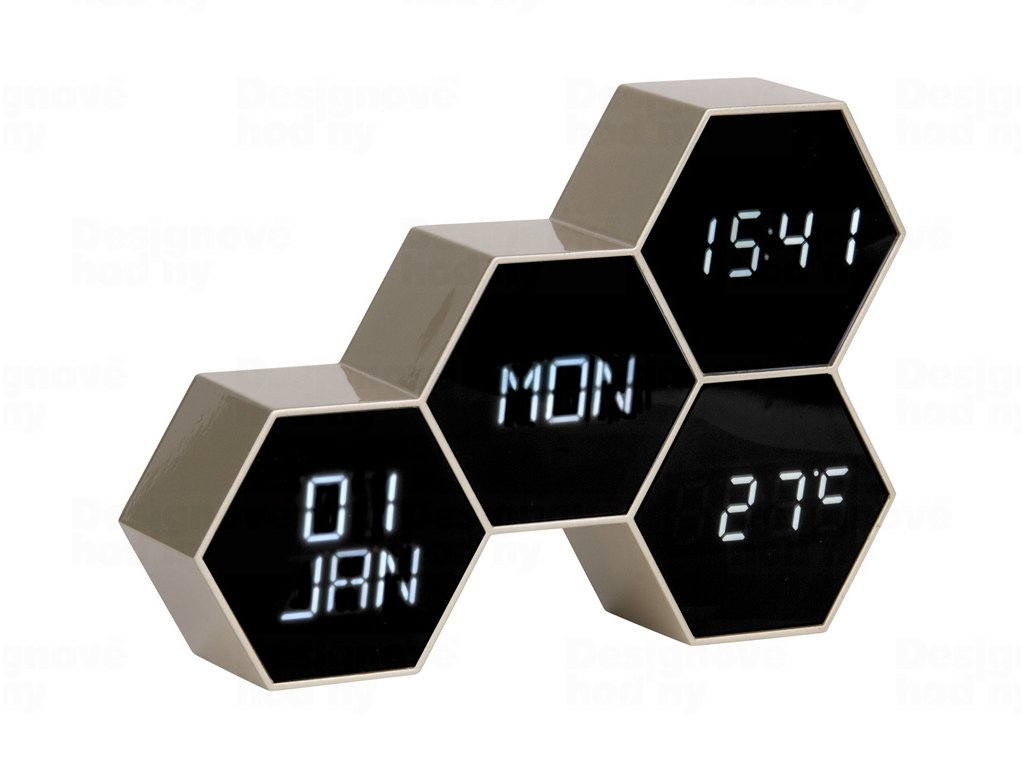 Digitální nástěnné/stolní hodiny KA5805GD Karlsson 18cm