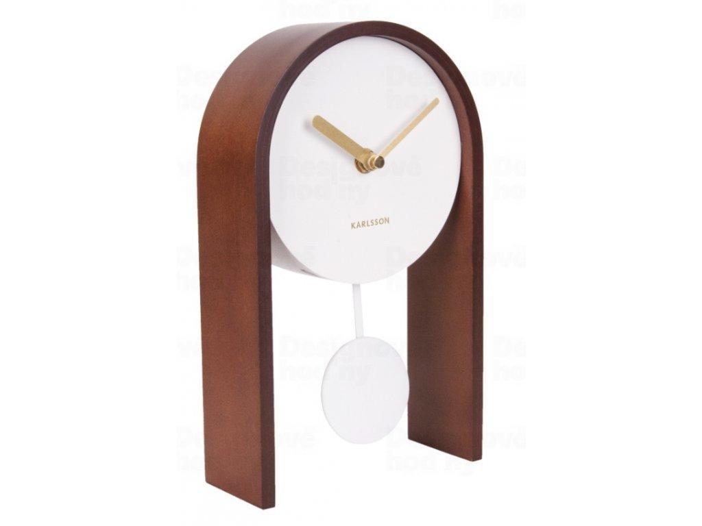 Designové kyvadlové stolní hodiny 5705DW Karlsson 25cm