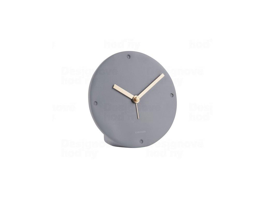 Designové kyvadlové stolní hodiny 5812GY Karlsson 12cm