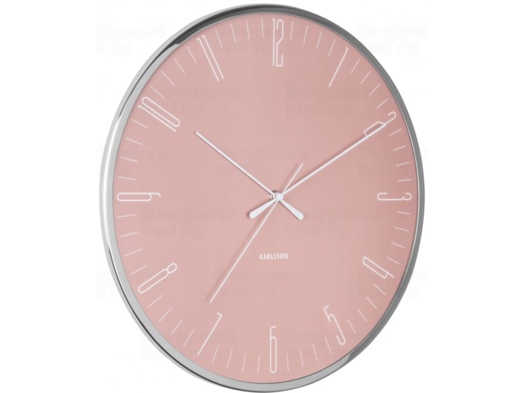 Designové nástěnné hodiny 5754PI Karlsson 40cm