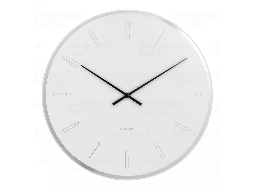 Designové nástěnné hodiny 5800WH Karlsson 40cm