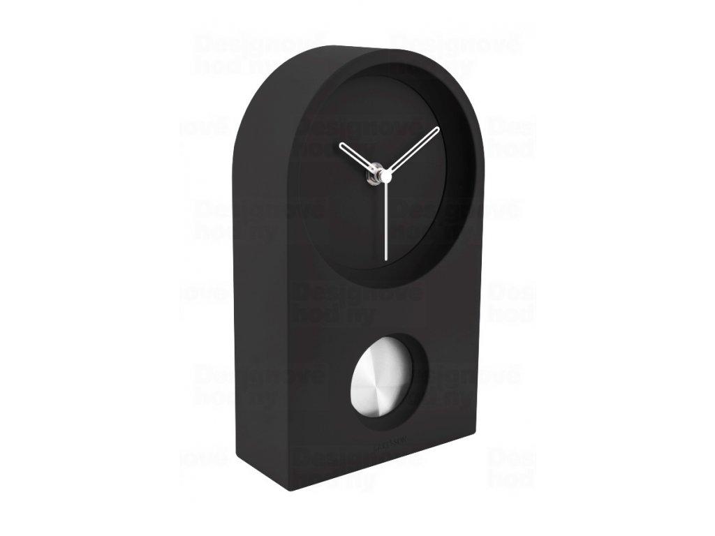 Designové stolní kyvadlové hodiny 5801BK Karlsson 25cm