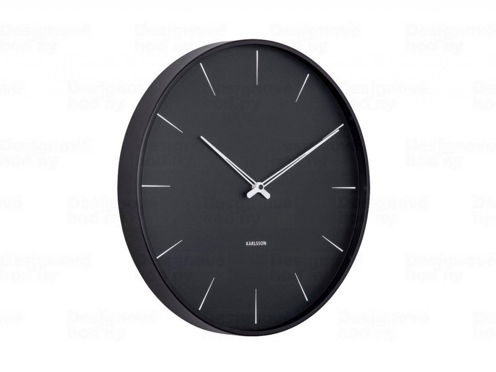 Designové nástěnné hodiny 5834BK Karlsson 40cm