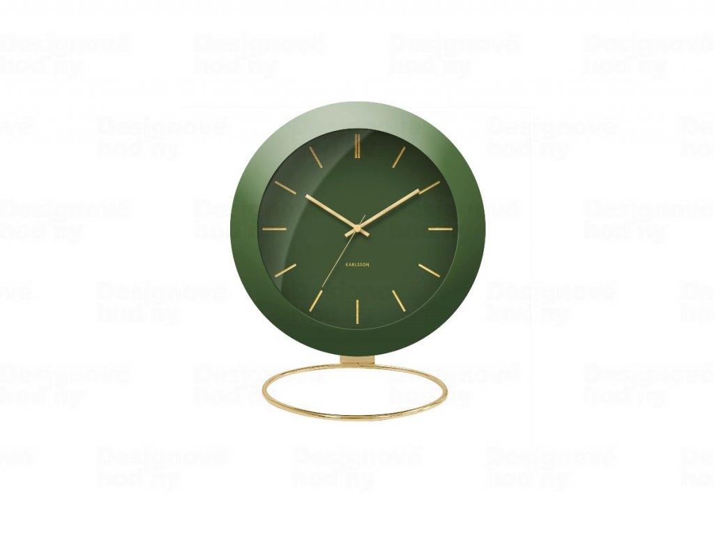 Designové stolní hodiny 5833GR Karlsson 10,5cm