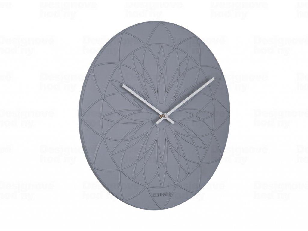 Designové nástěnné hodiny 5836GY Karlsson 35cm